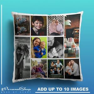 Personalised-Photo-Pillowcase-Cushion-Pillow-Case-Cover-Custom-Gift-up-to-10-pic