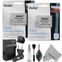 2x Vivitar Lp-e8 Battery + Charger For Canon Rebel T5i T4i T3i T2i Kiss X6i X5 on sale