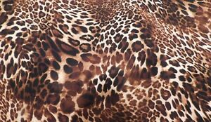 Details About Brown Black And White Leopard Print Fabric 560 Sold By The Yard