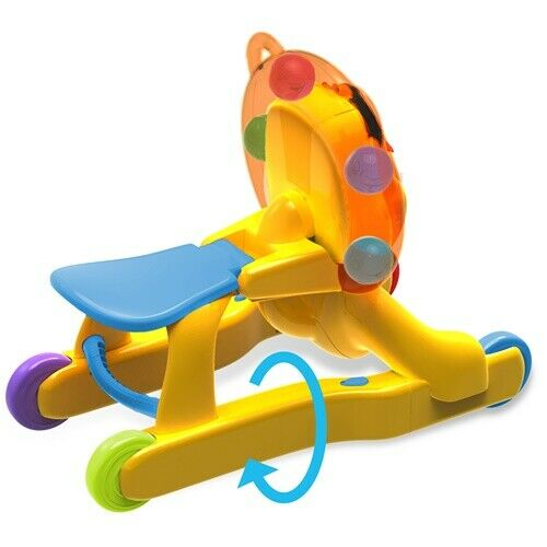 Bright Starts 3 In 1 1 1 Step 'n Ride Lion Ride on Toy Infant Play Melodies & Sounds 74c6db