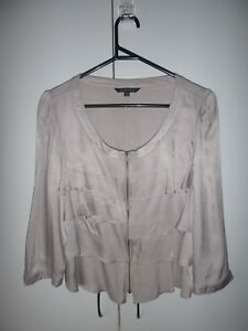 Gorgeous-Portmans-Brand-Silver-Grey-Ruffled-Jacket-Top-Size-14