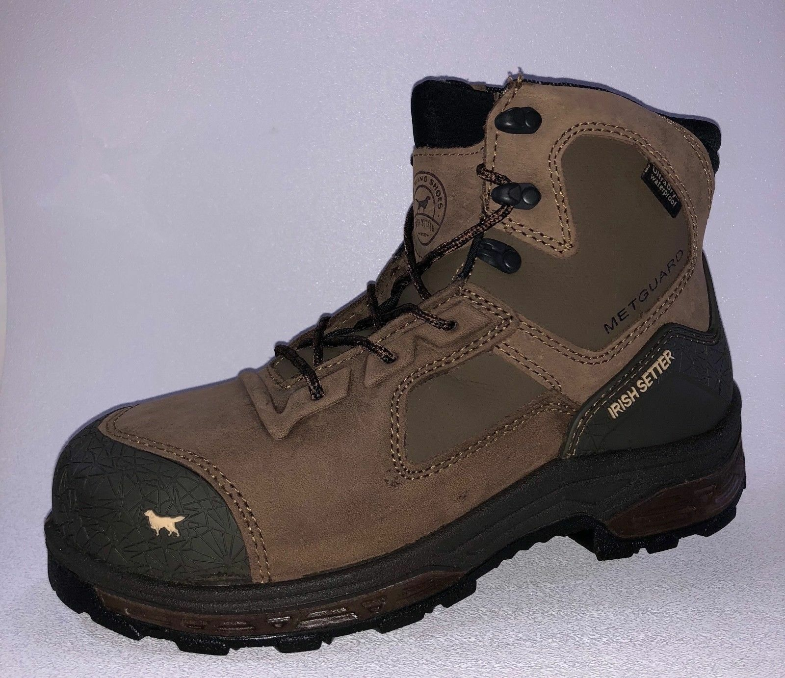 Irish Setter KASOTA Mens 83644 Brown NON-METALLIC SAFETY TOE Waterproof Boots
