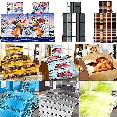 Bettwäsche 135 x 200 und 80 x 80 cm Microfaser oder Flausch Thermofleece AKTION