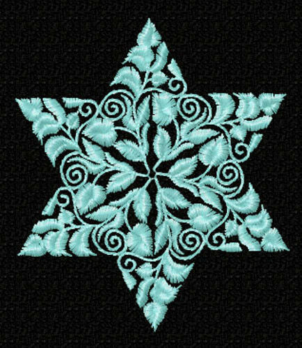 Floral Ornaments Stars of David Embroidery Designs 4x4