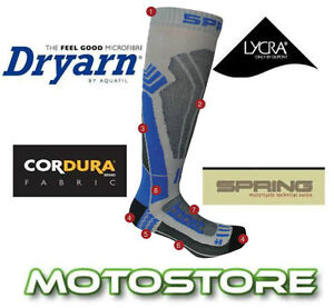 SPRING-TECHNICAL-MOTORCYCLE-MOTORBIKE-COMPETITION-RACE-BOOT-SOCKS-LINER-BASE