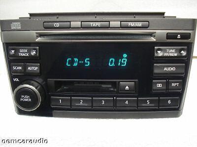 2000 01 02 03 NISSAN Maxima AM FM Radio Stereo Tape Cassette CD Player CR120 OEM