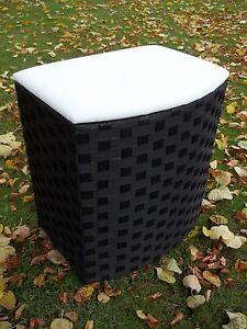 w schetruhe w schekorb sitztruhe mit polster schwarz wei in zwei gr en ebay. Black Bedroom Furniture Sets. Home Design Ideas