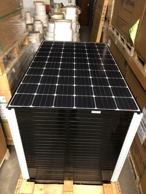 (Lot of 7) LG Solar 310w LG310N1C-G4 NeON2 60 Cell Black Frame Solar Panel