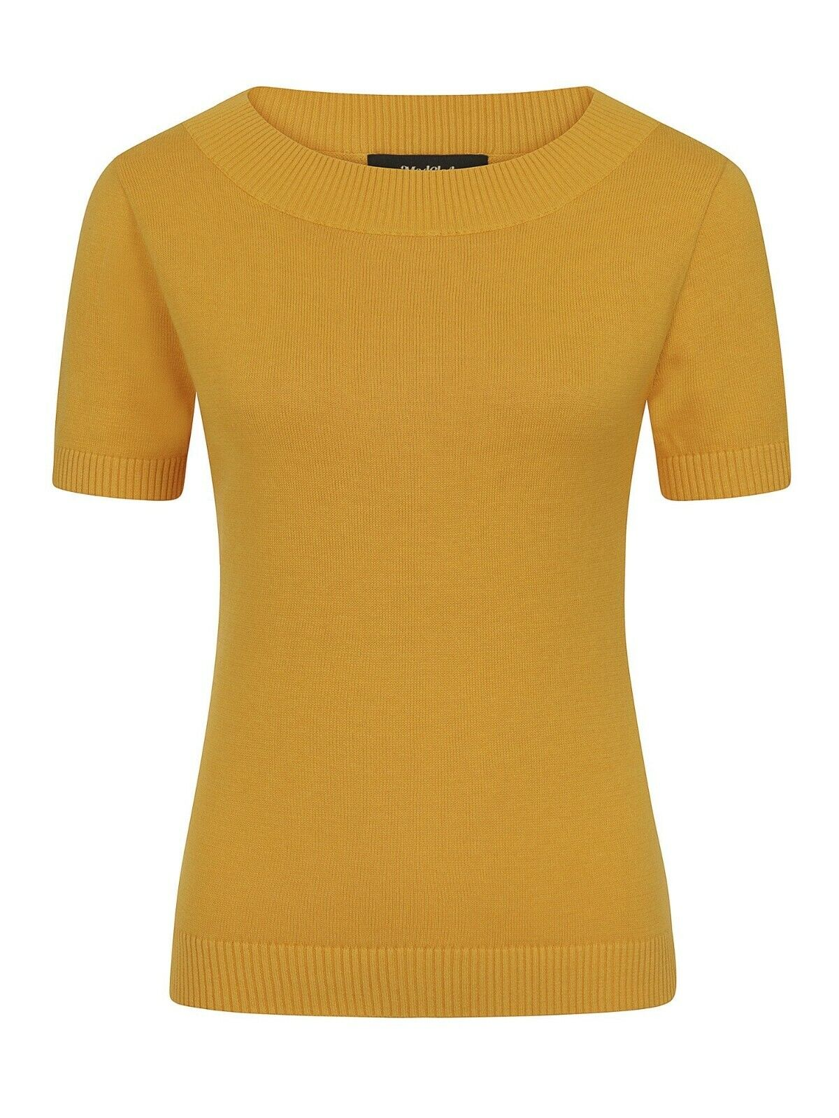 Collectif x Modcloth Camnila Knitted Top Size 30 Yellow