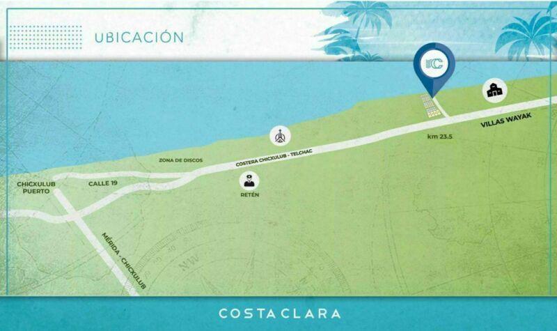 Lote en venta en la playa, Costa Clara Chicxulub puerto
