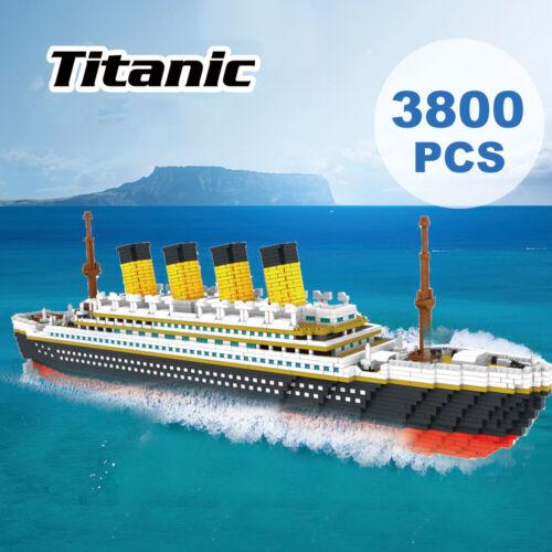 9913 Modell Titanic Atomic Building Blocks Kit 3800er Geschenkspielzeug für P6E1