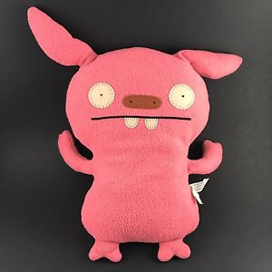 "Ugly Doll Uglydoll Little Huggable 12"" Plush Pink Puglee DISCONTINUED RARE 2007"