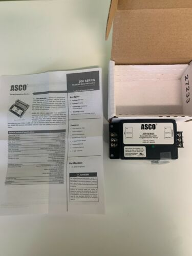 Details about  /ASCO HSP121BT-RU surge protector CAT# 252120NF015AN3N0