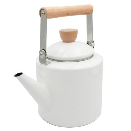 2.1-Quart Maximum Capacity Cylindrical Shape Keypro Enamel on Steel Tea Kettle
