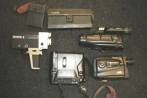 Joblot-2-Video-Cine-Cameras-Spares-Repairs-Canon-Sony-JVC-Sanyo-camcorder