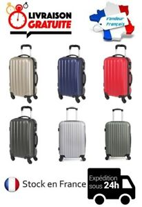 73f3c4794e VALISE CABINE RIGIDE SAC BAGAGE A MAIN TROLLEY LOW COST AVION TRAIN ...