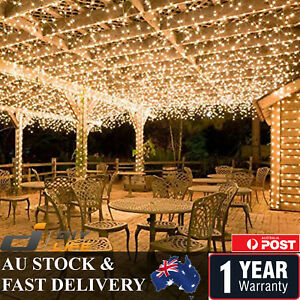 Outdoor 500LED 100M Warm Cool White Fairy Christmas String Strip Lights