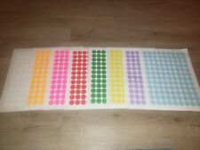 864 Removable Blank Garage Yard Sale Stickers Labels Price Tags 8 Colors Sale