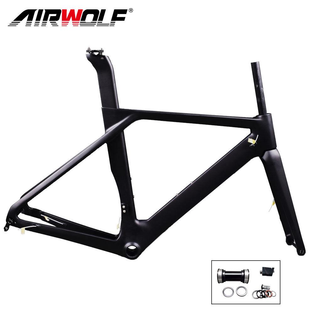 2019 carbon road bike frame 700C racing disc frameset fork seatpost 49-56cm