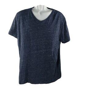 Banana-Republic-Tech-Coton-T-Shirt-col-V-XL-bleu-a-manches-courtes-anti-humidite