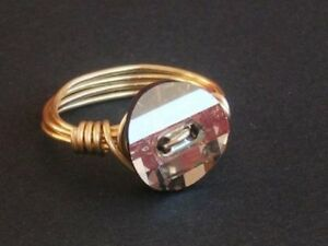 a915144eb Gold Plated Crystal Wire Wrap Ring made with Swarovski Crystal ...