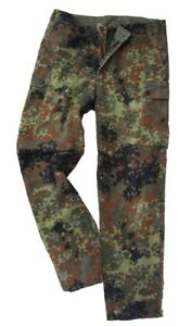 Original-German-Army-Flecktarn-Trousers-Camo-Surplus-Military-Pants-Grade-1