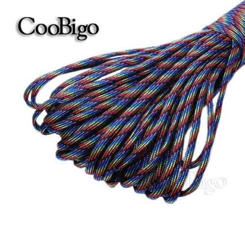 10FT Parachute 550 Cord Rope Mil Spec Type III 7 Core Strand Paracord Bracelet