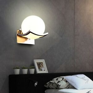 Details About Metal Gl Ball Bedside Lamp Table Bedroom Led Wall Mounted Style Light Modern