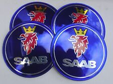 SAAB Wheel Hub Caps Badge Emblem Stickers 65mm Set of 4 EPOXY RESIN