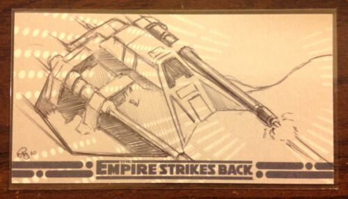 Topps Empire Strikes Back 30th Anniversary Rebel Snowspeeder sketch card Owens