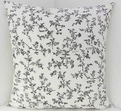 Oblongs Cushion Covers BRAND NEW SINGLE FRENCH Style Black White Floral Vintage