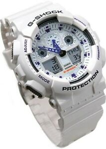 12722eaa03ad6 Casio G-Shock Sports Mens X-Large World Time Watch White Resin ...