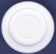 VINA FERA RADIANCE SAUCER Dessert PLATE Ceramic w/Lattice FRUIT WHITE~BLUE XLNT!