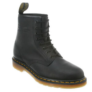 e898ab58 Details about Men's Dr Martens 1460 8 Eye LaceUp Boot Black Greasy R11822003
