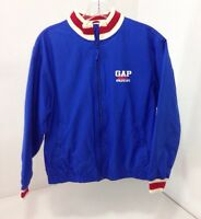 Gap Kids Boys Athletic Department Polyester Jacket Red/wht/blue Youth Xl $30