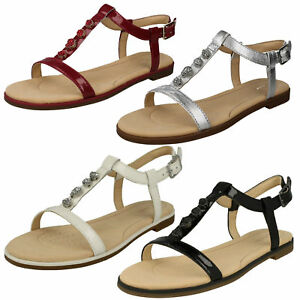 ed6cd023a3b37 LADIES CLARKS LEATHER FLAT BUCKLE OPEN TOE GLADIATOR SUMMER SANDALS ...
