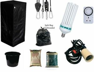 Best-Complete-Hydroponic-Small-Grow-Room-Tent-Canna-CFL-Light-Kit-40x40x140