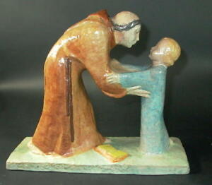 Gmundner-Keramik-grosse-Figurengruppe