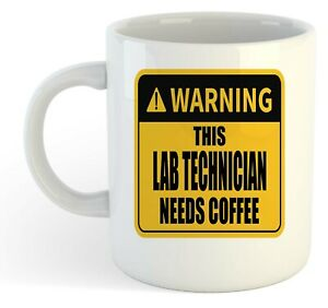 Warning-Esta-Laboratorio-Tecnico-Necesita-Cafe-Blanco-Taza-Regalo-Trabajo