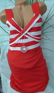 pretty nice 82e28 e1ec9 Details zu Melrose Kleid Damen Gr. 36 bis 44 (831) Stretchkleid rot weiß  gestreift