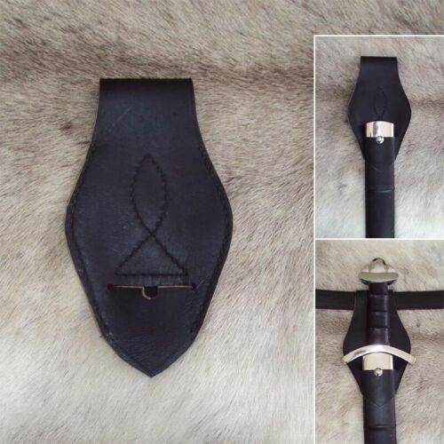 Stage And Costume Leather Military Sword Frog Perfect For Re-enactment