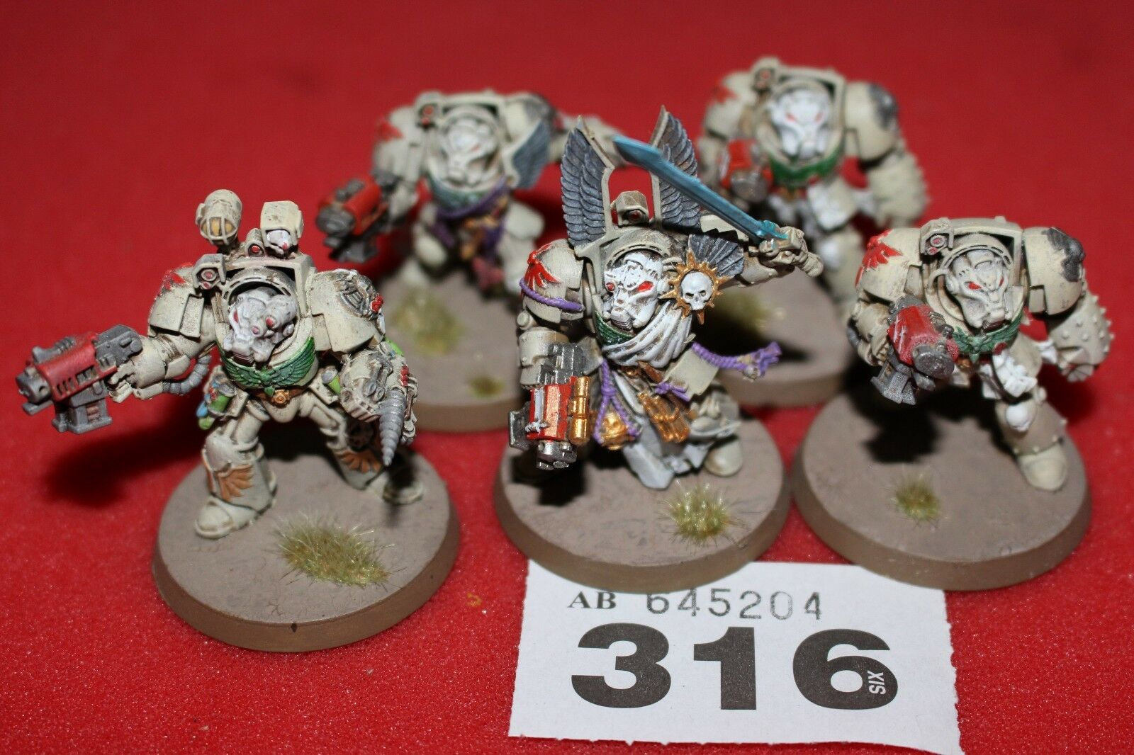Games Workshop Warhammer 40k Dark Angels Deathwing Terminators Squad Painted C