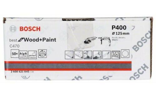 Velcro ungelocht 50er-Pack 400 Bosch Pastille de sablage papier c470 125 mm