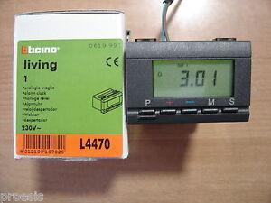 Bticino l4470 living international alarm clock electronic for Cronotermostato bticino living