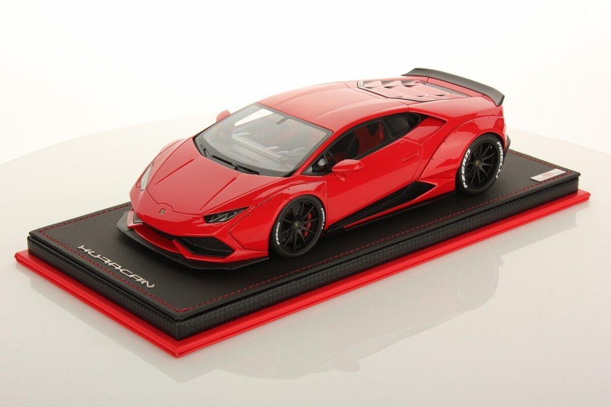 opciones a bajo precio MR Collection Lamborghini Huracan Aftermarket rojo rojo rojo Mars with Showcase 1 18  compras online de deportes