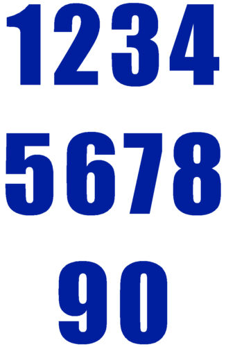 3 inch SELF ADHESIVE VINYL NUMBER ONLY PACKS