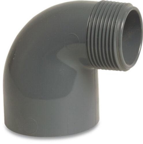 PVC Gewinde Sechskantnippel Gewinde Fittings PVC Verschraubung Muffe Winkel