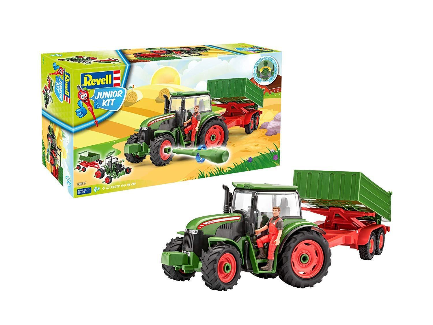 Tractor with Trailer and Figure 1 20 Scale Level 1 Revell Junior Kit