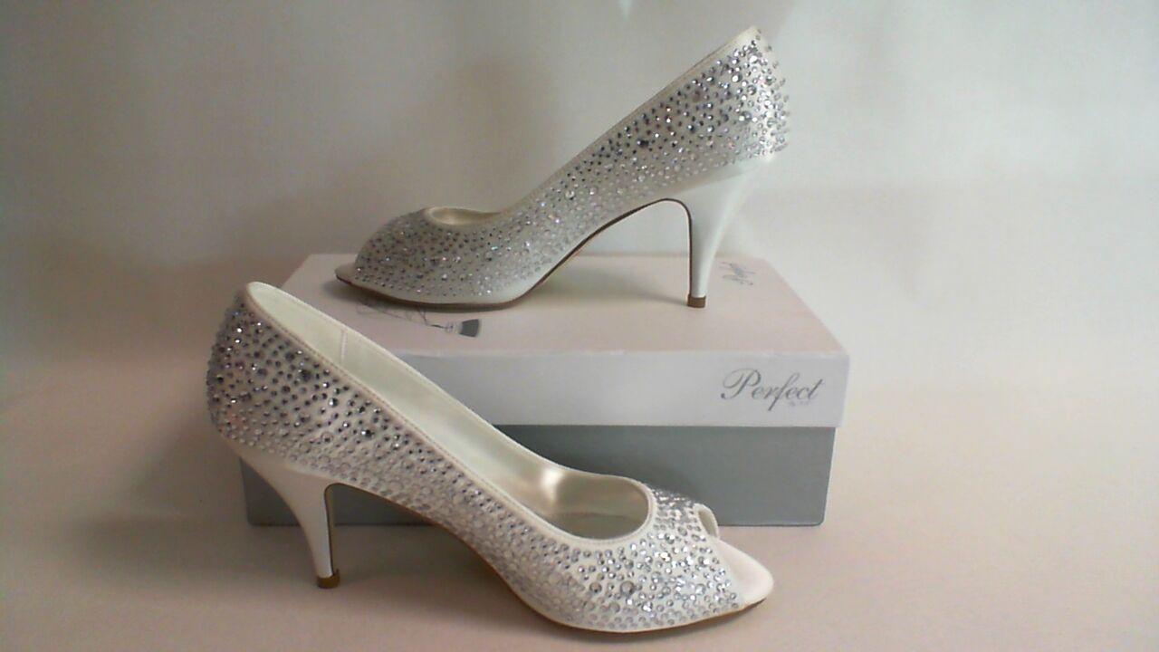 NEW: The Perfect Bridal Co Bridal Shoes - Jenna - Ivory - Size 41 UK 8 #17D285