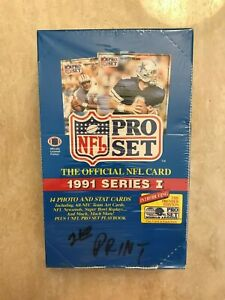 1991-PRO-SET-FOOTBALL-SERIES-I-WAX-PACK-BOX-FACTORY-SEALED